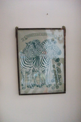 framed apples & zebra print