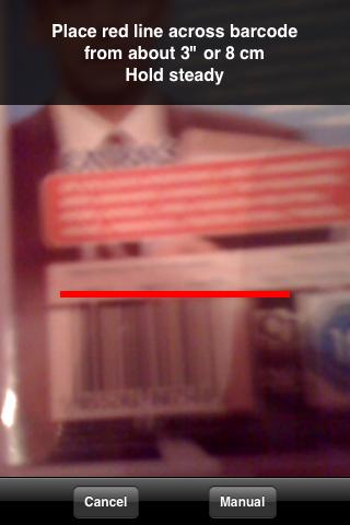 Sccope barcode scanner