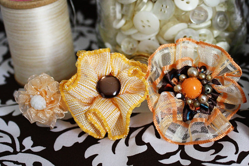 Orange Ribbon Rings