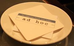 Ad Hoc check