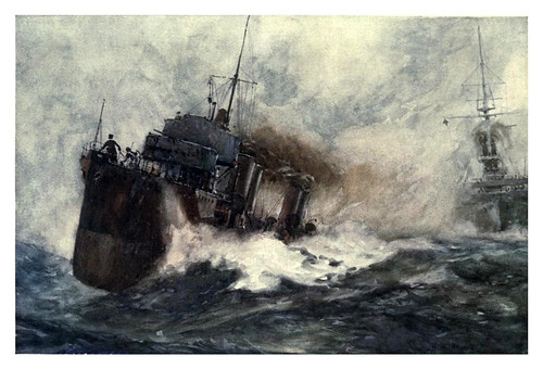 022- Un destructor para rios-The Royal Navy (1907)- Norman L. Wilkinson