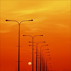 Au revoir! (-clicking-) Tags: street light sunset red nature lamp beautiful sunshine silhouette gold natural vivid goodbye aurevoir sunight lighitng specialpicture platinumphoto colorphotoaward 100commentgroup artofimages bestcapturesaoi elitegalleryaoi blinkagain blinkagainfrontpage bestofblinkwinners blinkagainsuperstars blinksuperstars