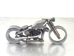"""Five finger death Punch"" metal motorcycle sculpture"