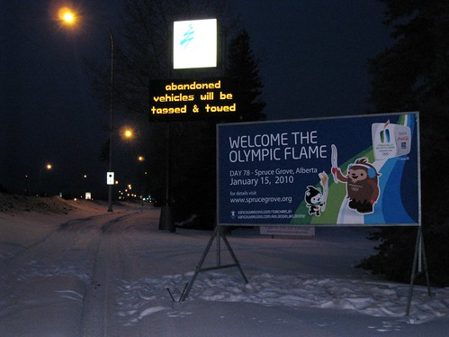 Olympic Torch in Spruce Grove