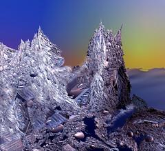 No Man's Land (freetoglow (Gloria)) Tags: photoshop fractal visualart hypothetical incendia wowiekazowie eyecandyart photoartwork sharingart awardtree