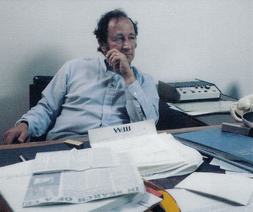 Bill Harmon at his desk