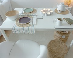 ..setting the table for breakfast... (Iro {Ivy style33}) Tags: white ikea breakfast table office chair pastels habitat diningarea zarahome