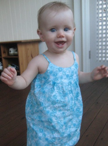 swingset dress (front) in action