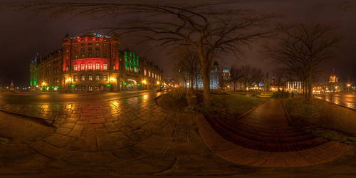 Panoramic Christmas Chateau Frontenac, Old Quebec City