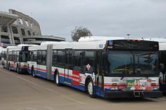 San Diego Transit (So Cal Metro) Tags: bus sandiego qualcomm metro stadium transit 1900 artic articulated mts chargers qualcommstadium sandiegotransit newflyer d60lf articulatedbus chargersexpress chargersbus bus1908