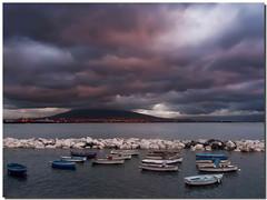 Napoli vista del vesuvio (Jajaxel) Tags: italy nadia italia nuvole mare campania napoli vesuvio challengeyouwinner jajaxel