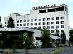 Aug 08 - Hotel in Pripyat (with anti-nuke graffiti), Chernobyl (Best of Rob) Tags: graffiti radiation nuclear ukraine kiev kyiv chernobyl pripyat pripyathotel