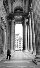Somewhere in Paris ([Schmitzoide]) Tags: street blackandwhite paris france church monument walking website tall pillars stmarymagdalene
