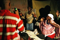 Haitians Join in Group Prayer in Cité Soleil Slum