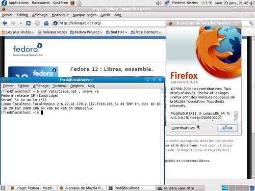Firefox 3.0 - Fedora 10 à jour
