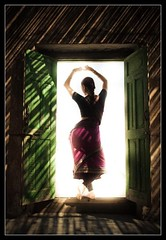 Ethereal (Devansh Jhaveri) Tags: light shadow india green dance dancer classical krishlikesit