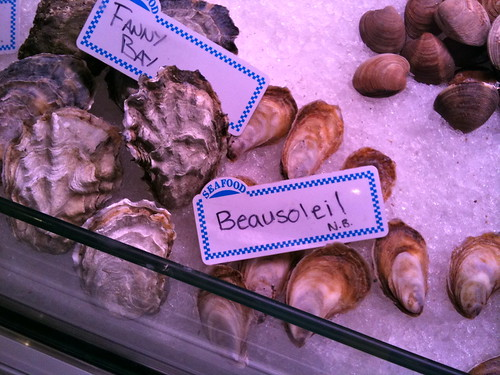 Fanny Bay & Beausoleil oysters