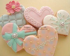 Valentine1 (JILL's Sugar Collection) Tags: food cookies heart decoration valentine sugar icing piping foodcolor royalicing sugarcraft