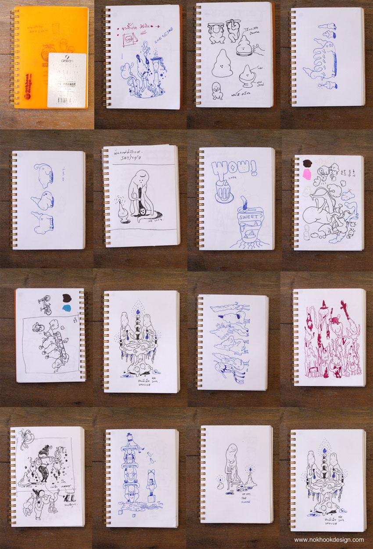 NH sketch book no.01, 2009