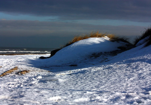 Snow on the beach
