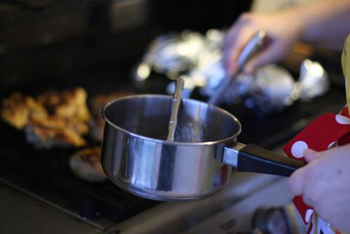 grilling at rachel's