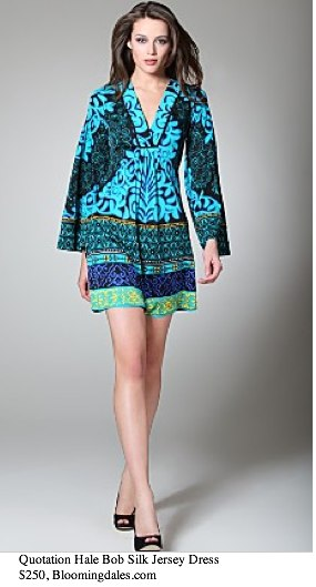Quotation_ Hale Bob Silk Jersey Print Borders Dress - Contemporary - Bloomingdales.com