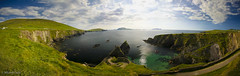 Dunquin / Pninsule de Dingle (Michel Delli - Photographies) Tags: ireland sea mer nature canon landscape eos coast pano dingle cte eire 5d paysage irlande panoramique dunquin pninsule
