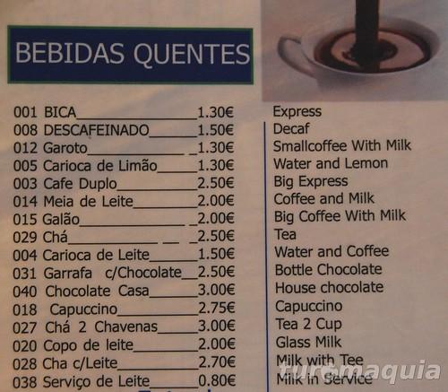 cafes portugueses