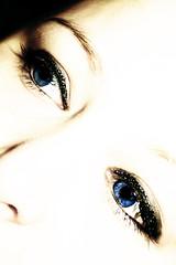3rd February 2010 (spot2805) Tags: blue selfportrait eye sp highkey mascara sparkley eyeliner magnificent7 hpad orisitsparkly