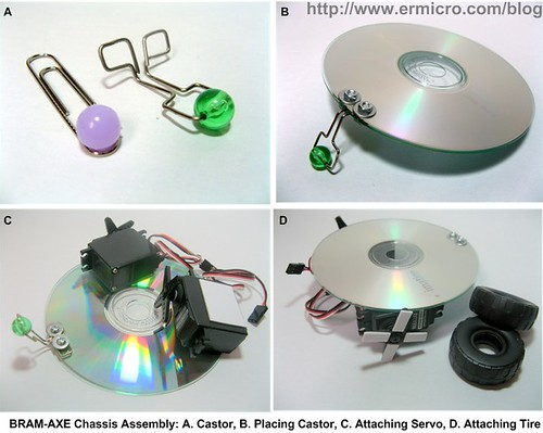 Build Your Own Simple and Easy PICAXE Microcontroller Based Photovore Robot 03