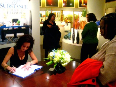 Margaret Russell at Elle Decor Signing Book
