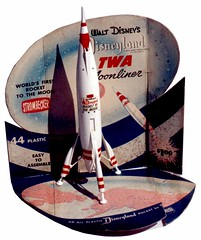 Disneyland TWA Moonliner Display