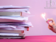 121/365 ,,, (H) Tags: fire book report graduation books h2o papers finally handed yaay   masha3el