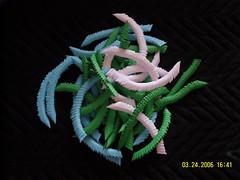 Origami Peacock in sticks (Magical Master Matt) Tags: origami chinese modular
