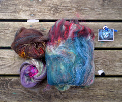 Fiber - Mad Hatter - EKF HH 1 (nuttnbunny) Tags: wool club silk bling fiber sari shetland diz handspinning ekf