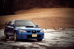 Subaru Impreza WRX STi (brian james) Tags: blue snow cold field canon landscape eos gold nj ii subaru impreza wrx sti ef reservation 50mm18 50d subaruimprezawrxsti canonef50mm18ii canoneos50d