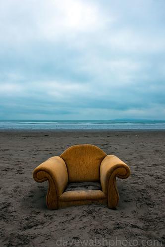 Armchair Environmentalist: Abandoned armchair Bull Island, copyright 2010 Dave Walsh