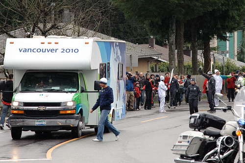 Olympic Torch in Lynn Valley, North Vancouver B.C. Feb 10 2010 -8