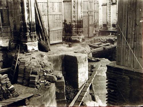 Restauración de San Juan de los Reyes a inicios del siglo XX. Foto Rodríguez