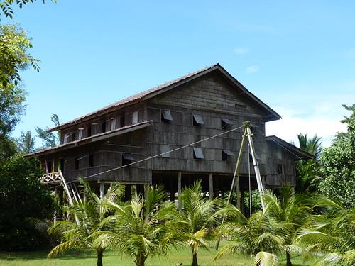 Melanau tallhouse at Sarawak Cultural Village near Kuching, Sarawak (Malaysia)