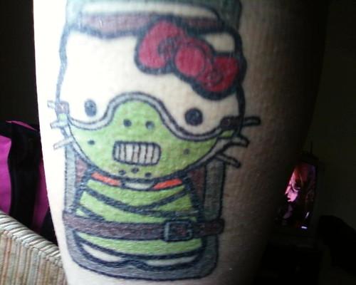 hello kitty tattoo art. of a Hello Kitty tattoo