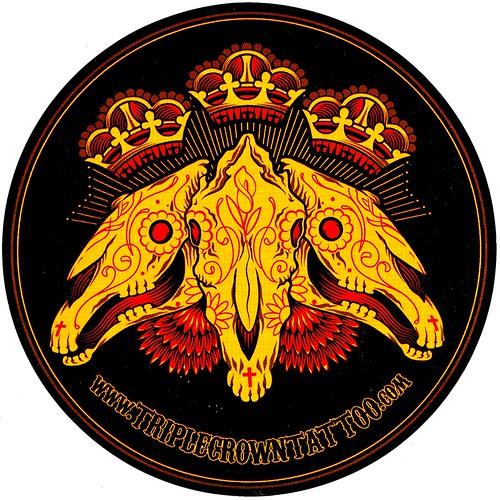 Triple Crown Tattoo Sticker by HeadOvMetal. From HeadOvMetal