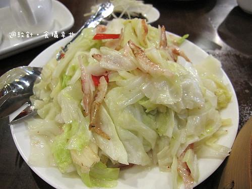 點水樓櫻花蝦炒高麗菜