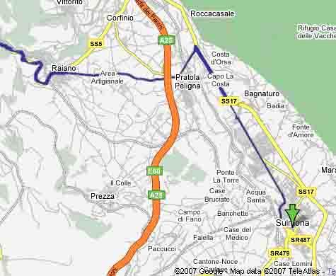 Vejen til Sulmona