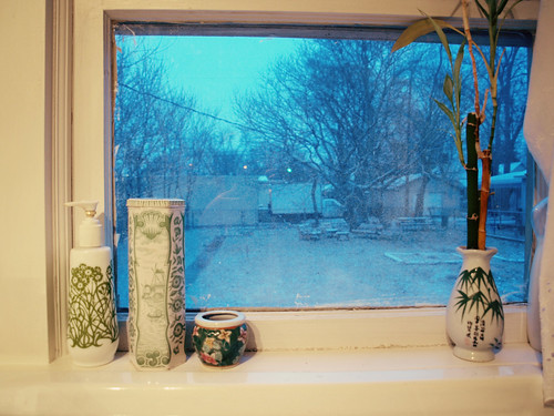 Kitchen Window as Dusk