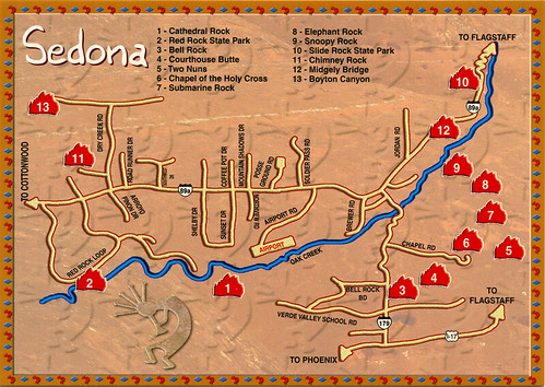 Sedona az maps – Sedona Tourist Map