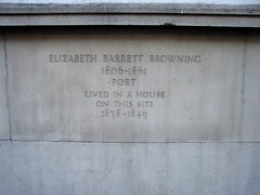 Photo of Elizabeth Barrett Browning stone plaque