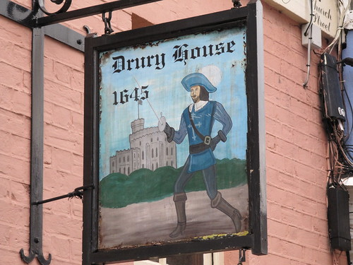 Drury House sign