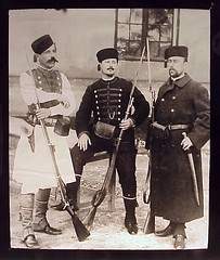 Serbian Soldiers, European War - Magic Lantern Slide (sunnybrook100) Tags: old soldier uniform serbia rifle archive pistol soldiers balkans soldat soldaten balkan magiclantern staro servia  arhiva magiclanternslide    serviansoldier serbiansoldier serviansoldiers serbiansoldiers