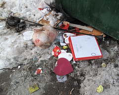 Did a person slip and fall on the way out to the dumpster with his or her armloads of trash! (Tim Kiser) Tags: minnesota minneapolisminnesota minneapolis hennepincountyminnesota hennepincounty twincities minneapolisstpaul minneapolissaintpaul 20100221 february2010 february 2010 southminneapolis whittierneighborhood whittier alley backalley down garbage trash litter dumpstertrash dumpstergarbage dumpster snow dirtysnow slush frozenslush pizzabox cardboardpizzabox cardboard valentinescandy valentinescandies valentinecandies valentinecandy valentineschocolate valentinechocolate valentineschocolates valentinechocolates hearts heartshapes heartshapedbox bagoftrash bagofgarbage sackoftrash sackofgarbage plasticbag plasticsack knottedplasticsack knottedplasticbag tvdinnertray microwaveabledinnertray microwavabledinnertray plastictray lamp floorlamp discardedlamp greendumpster mcdonalds mcdonaldsfrenchfries mcdonaldsfrenchfrycontainer frenchfrycontainer frenchfrybox img1816